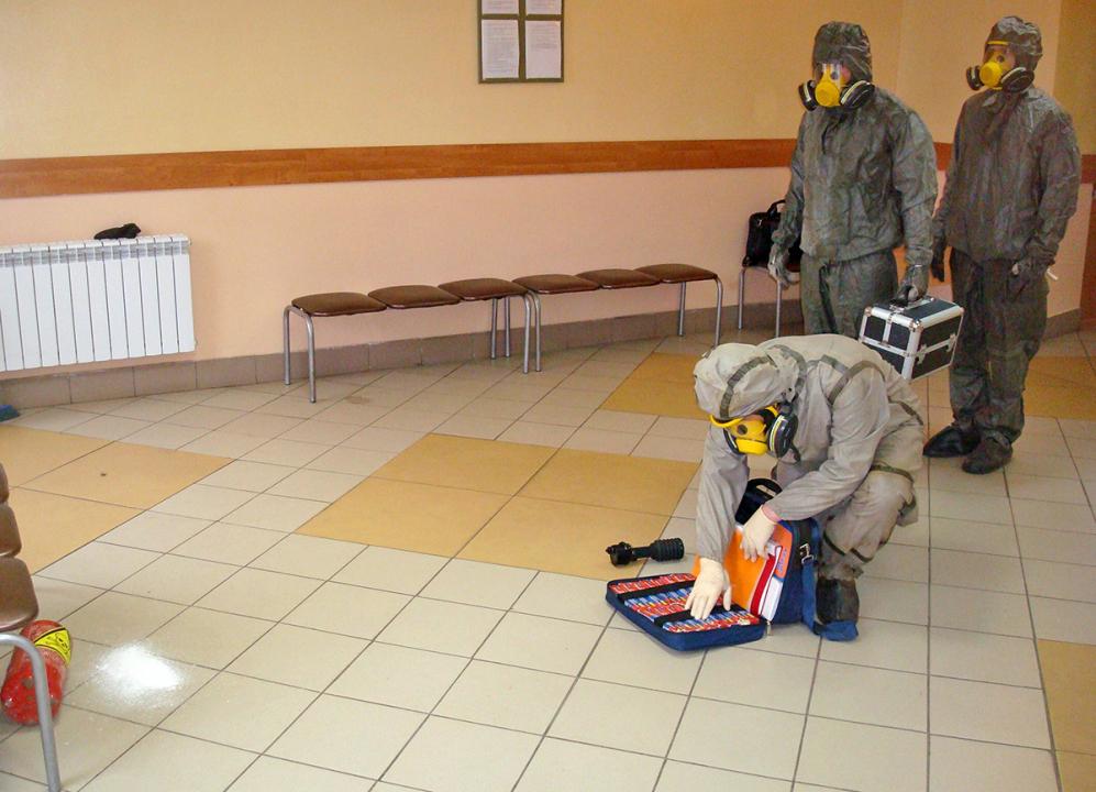 Подготовка группы РХБР к проведению разведки