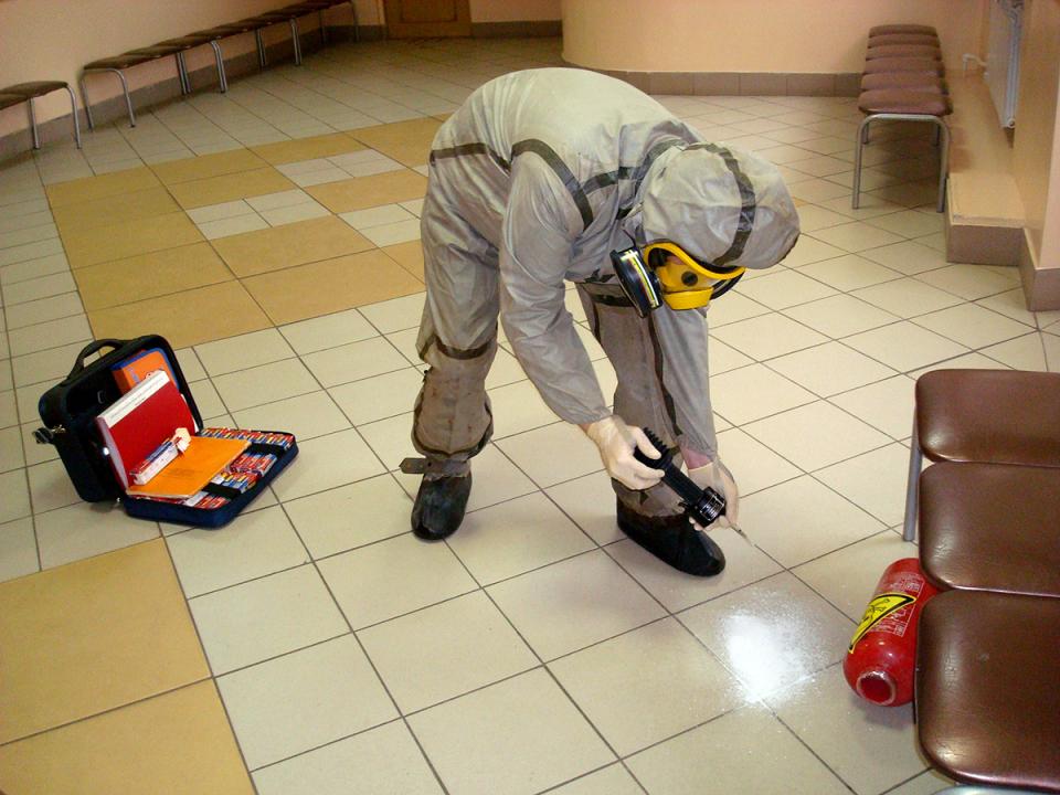 Проведение контрольного замера присутствия отравляющих веществ в воздухе