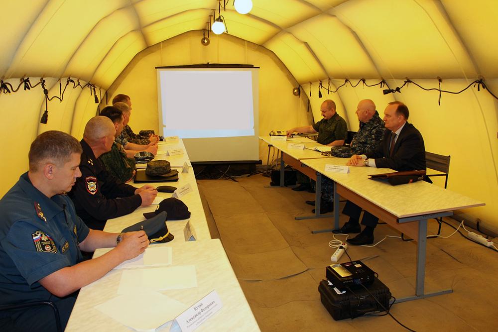 Тактико-специальное антитеррористическое учение в Республике Мордовия: выездное заседание Оперативного штаба в Республике Мордовия