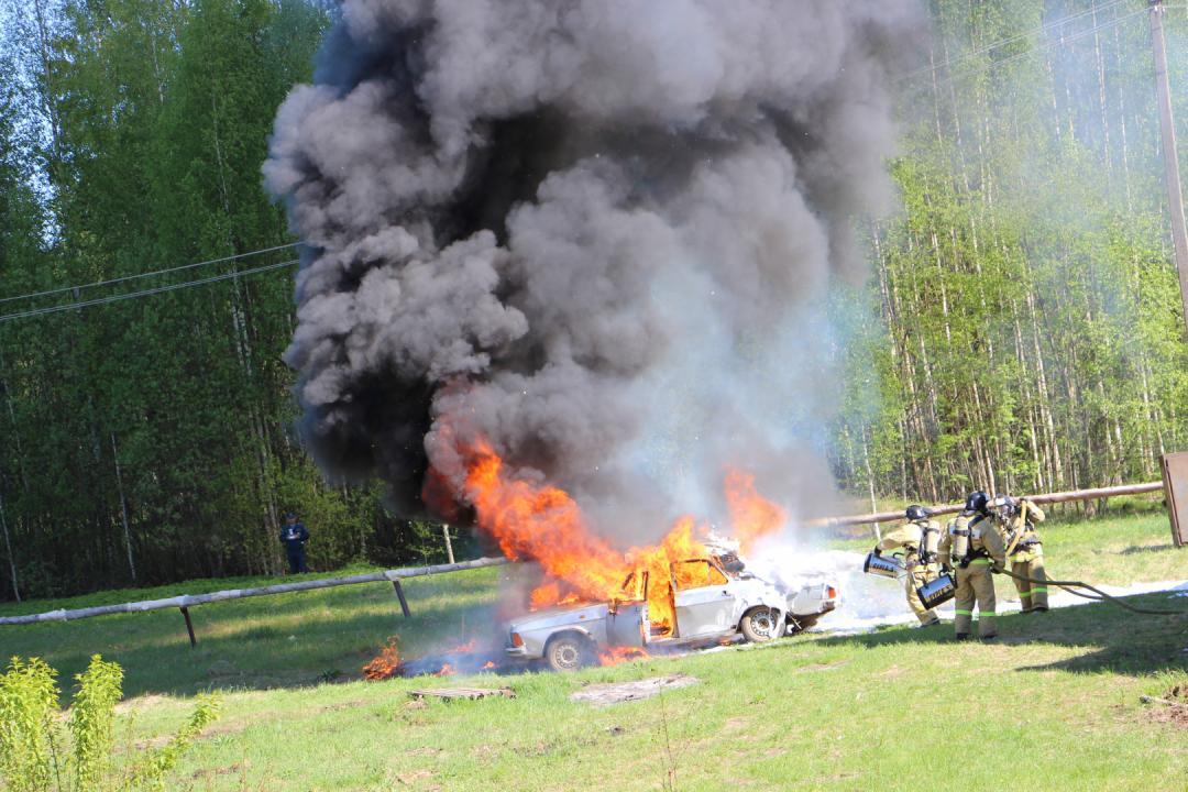 Группа минимизации последствий террористического акта локализовала и ликвидировала очаг возгорания