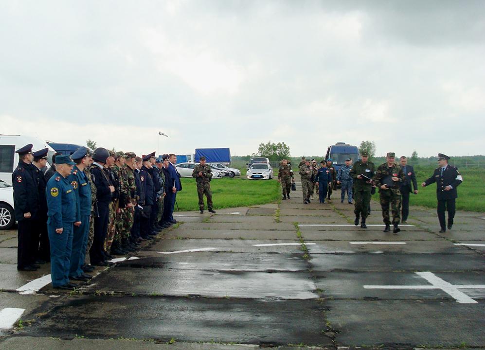 Прибытие оперативного штаба в Тамбовской области в район сосредоточения группировки