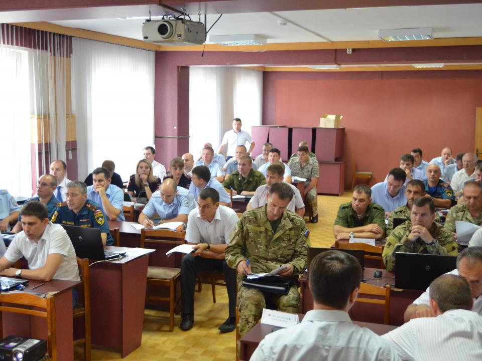 Работа руководителей групп Оперативного штаба по решению задач контртеррористической операции