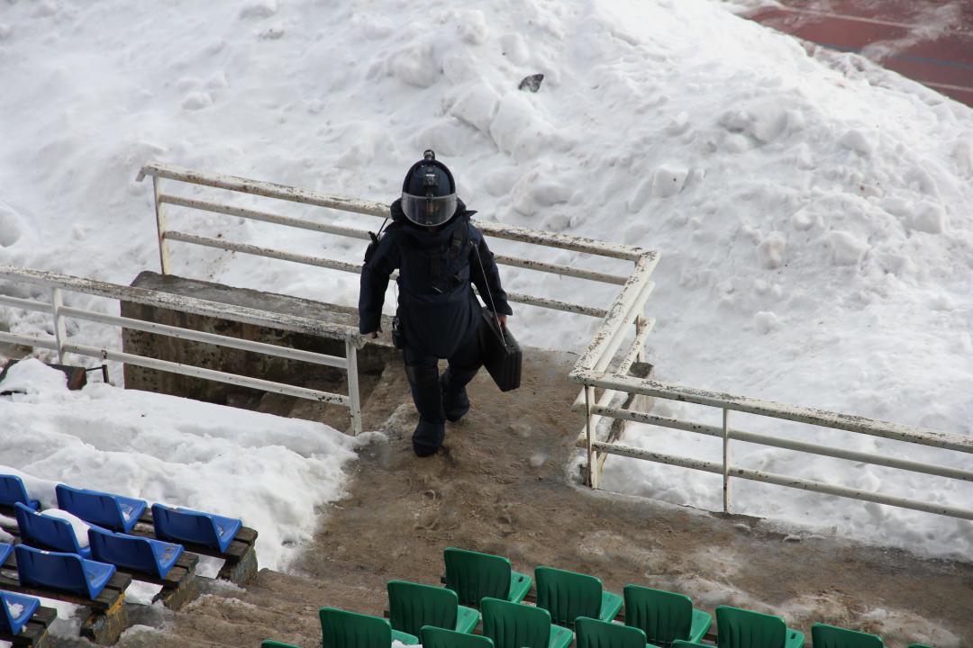 Прибытие взрывотехников ОМОН ОФСВНГ России по Республике Карелия