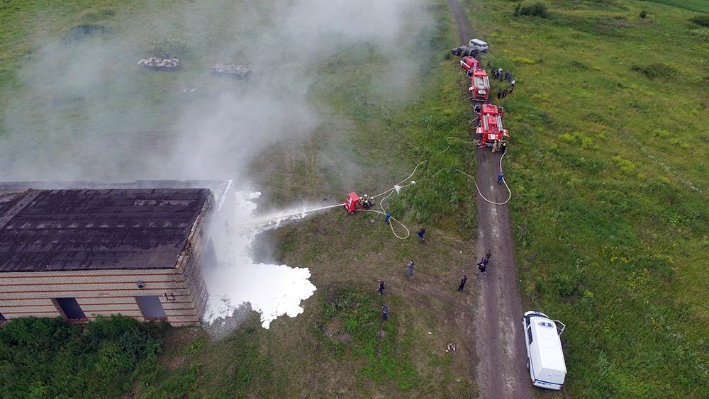 Тактико-специальное антитеррористическое учение в Республике Мордовия: Ликвидация последствий пожара с соблюдением мер безопасности