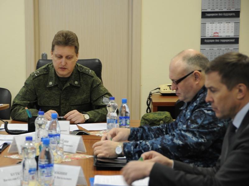 Руководитель ОШ в Ивановской области полковник Трясов В.А. ведёт экстренное заседание Штаба