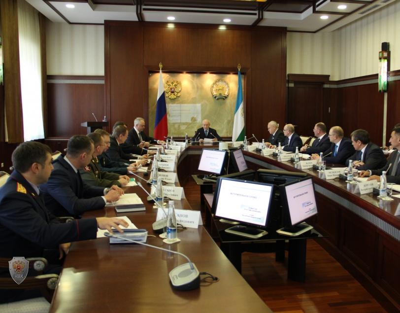 Открытие заседания антитеррористической комиссии Республики Башкортостан 29 января 2018 года