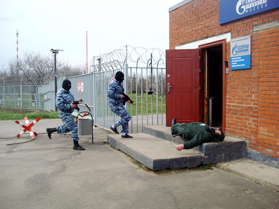 Нападение «террористов» на контрольно-пропускной пункт Первомайского производственного участка филиала ООО «Газпром трансгаз Москва»
