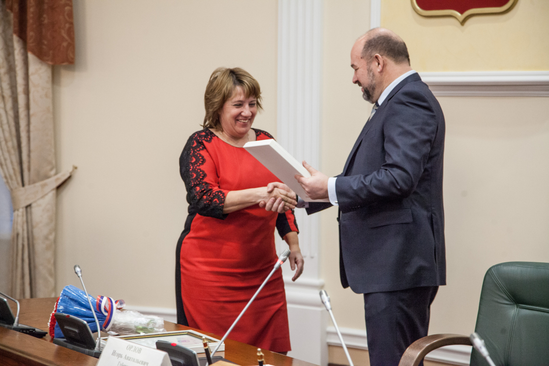 Награждение главы муниципального образования «Приморский муниципальный район» Рудкиной Валентины Алексеевны