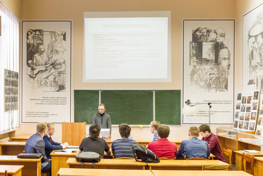 Доклад студента СГМУ по одной из тем семинара, посвященной профилактике идеологии терроризма