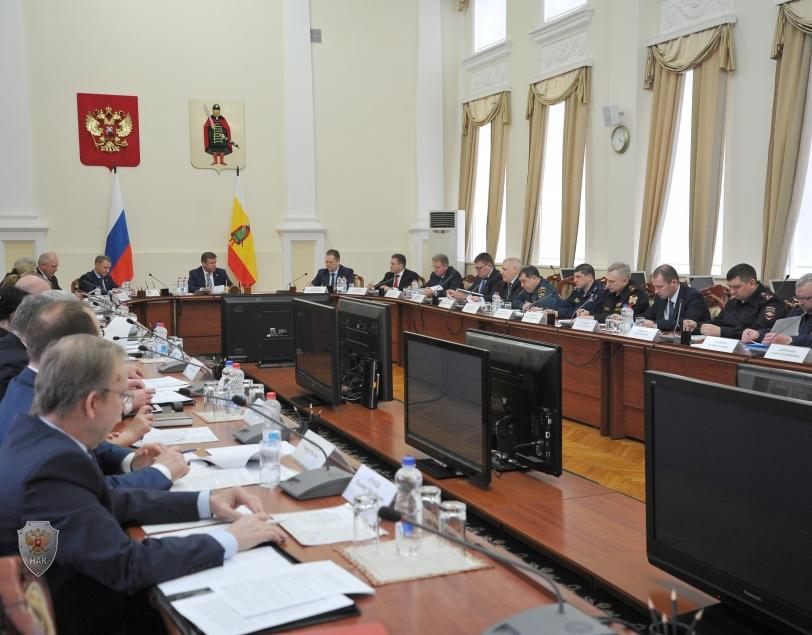 Ход заседания антитеррористической комиссии Рязанской области
