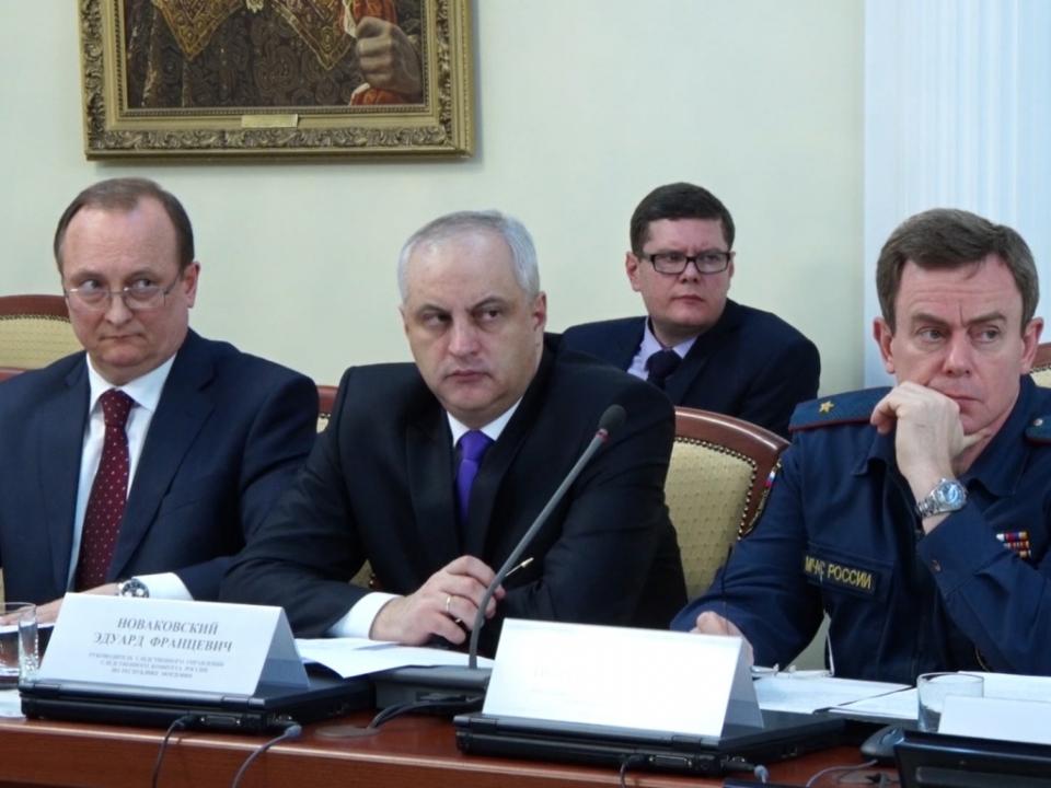 Руководители правоохранительных органов на совместном заседании Антитеррористической комиссии и Оперативного штаба