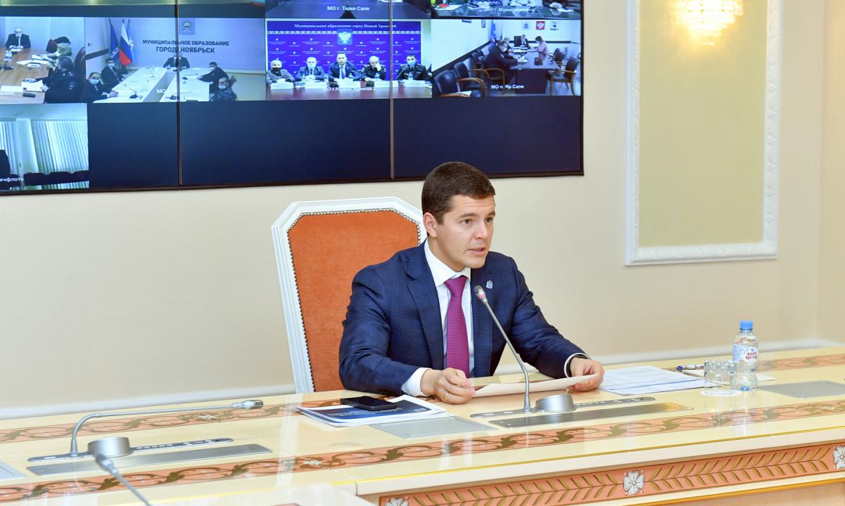 Губернатор Ямало-Ненецкого автономного округа Дмитрий Артюхов открывает заседание Антитеррористической комиссии в Ямало-Ненецком автономном округе