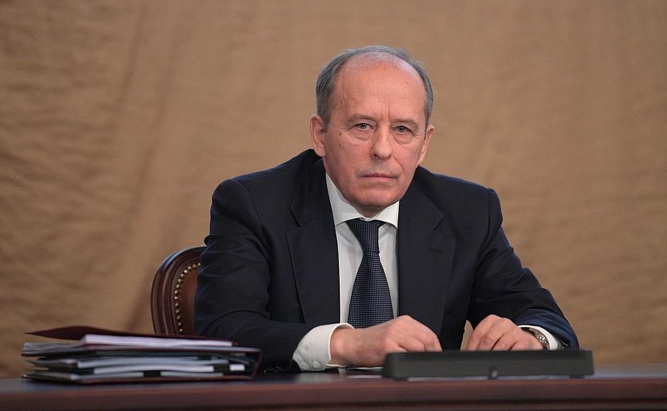 Директор Федеральной службы безопасности Александр Бортников назаседании коллегии ФСБ России