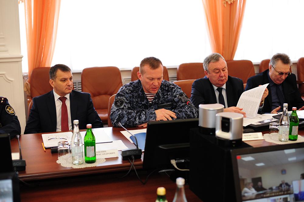 Выступление начальника Управления Росгвардии по Тамбовской области Шишмонина С.В.