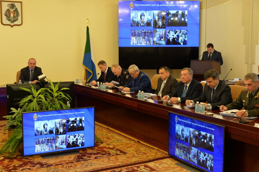 Прошло совместное заседание краевой антитеррористической комиссии и оперативного штаба в Хабаровском крае