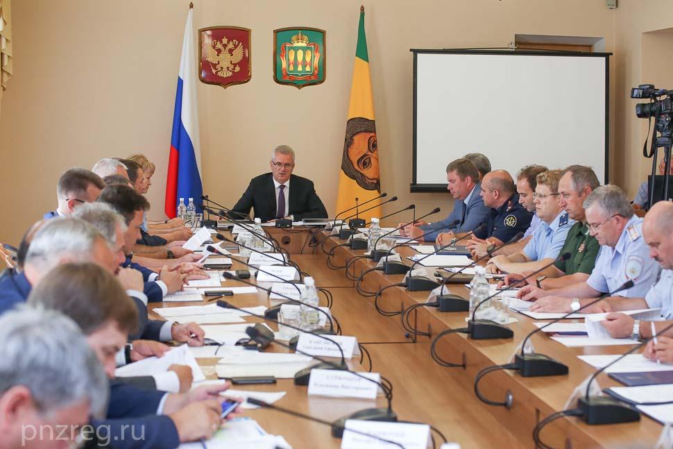Состоялось совместное заседание антитеррористической комиссии и оперативного штаба в Пензенской области