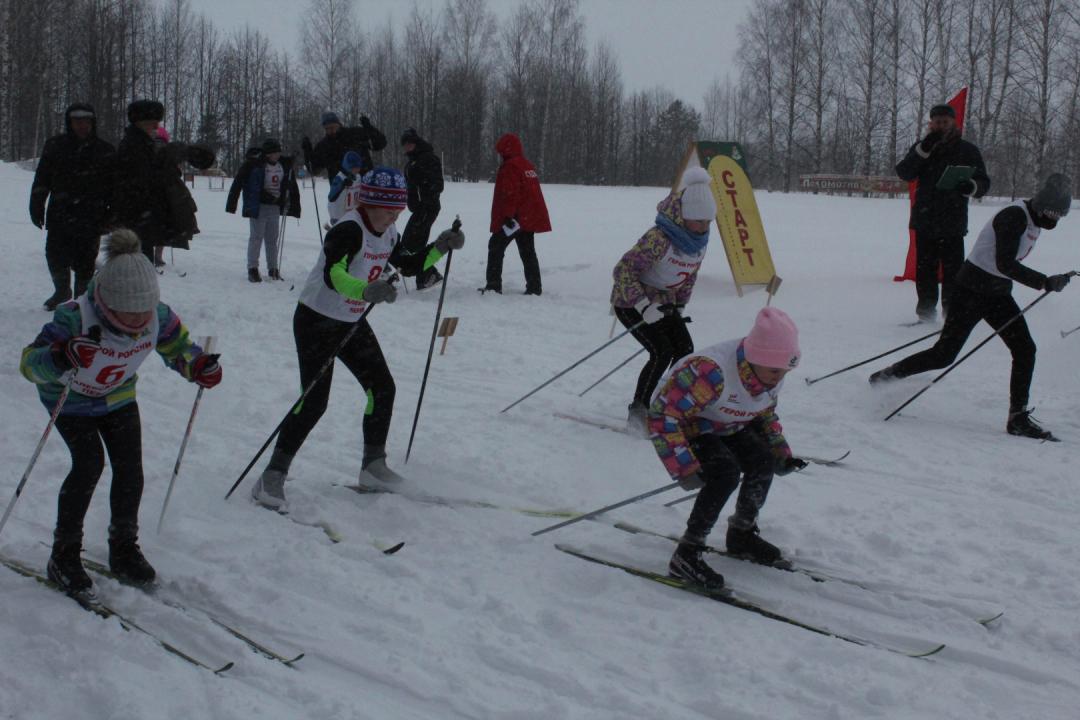 Старт участников соревнований.