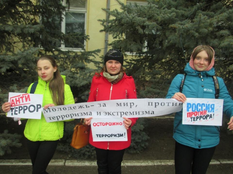 Флешмоб «Молодежь за мир», прошедший на центральных улицах г. Новоузенска.