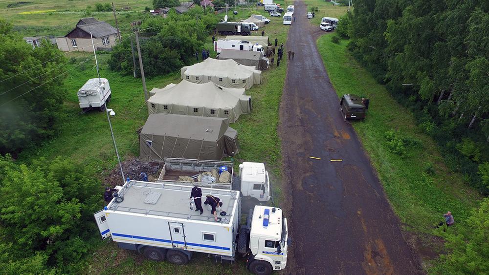 Тактико-специальное антитеррористическое учение в Республике Мордовия: палаточный городок в районе проведения КТО
