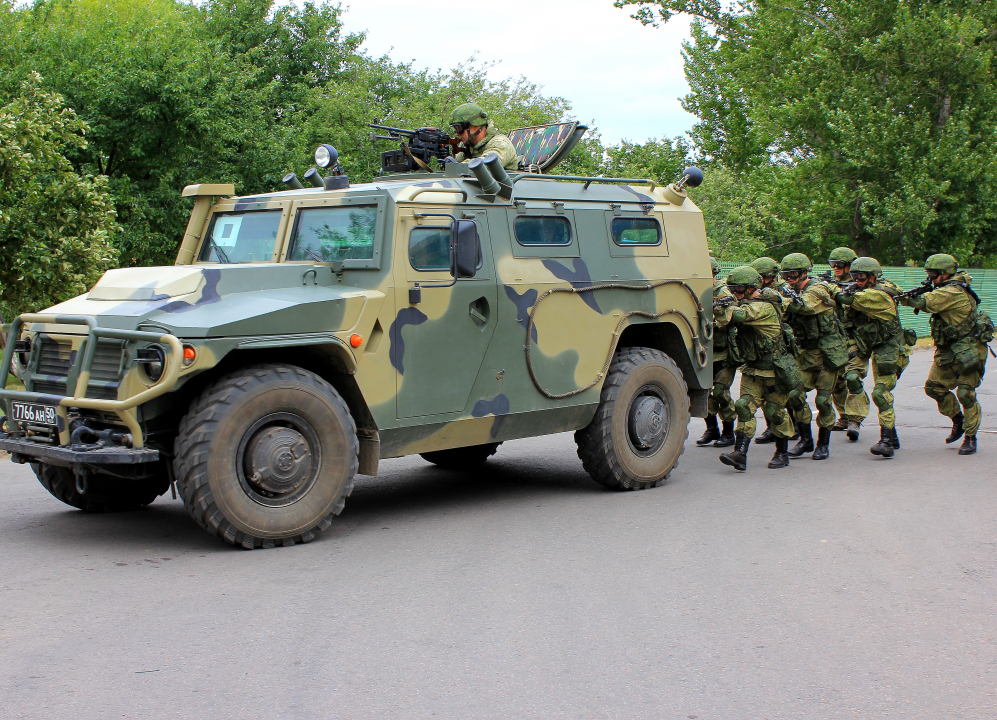 Прибытие резерва Тамбовского территориального гарнизона