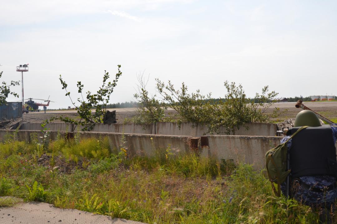 Оперативным штабом в Красноярском крае на территории аэропорта проведено командно-штабное учение «Набат-2020»