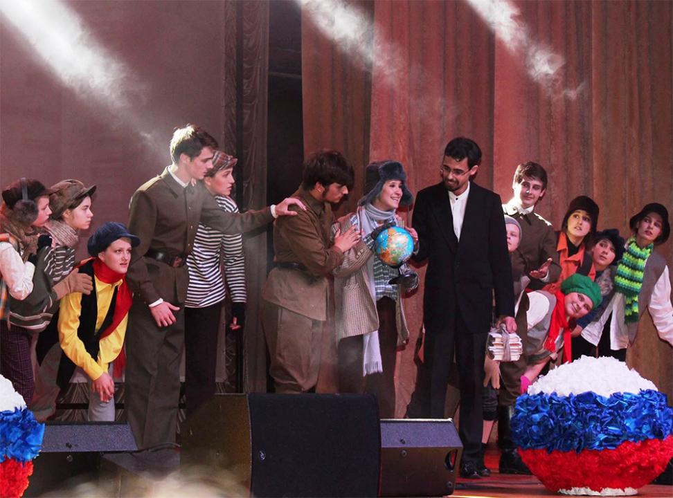 Выступление детского театрального коллектива