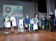 Дети сотрудников УМВД приняли участие в региональном конкурсе «Есть такая профессия – Родину защищать»