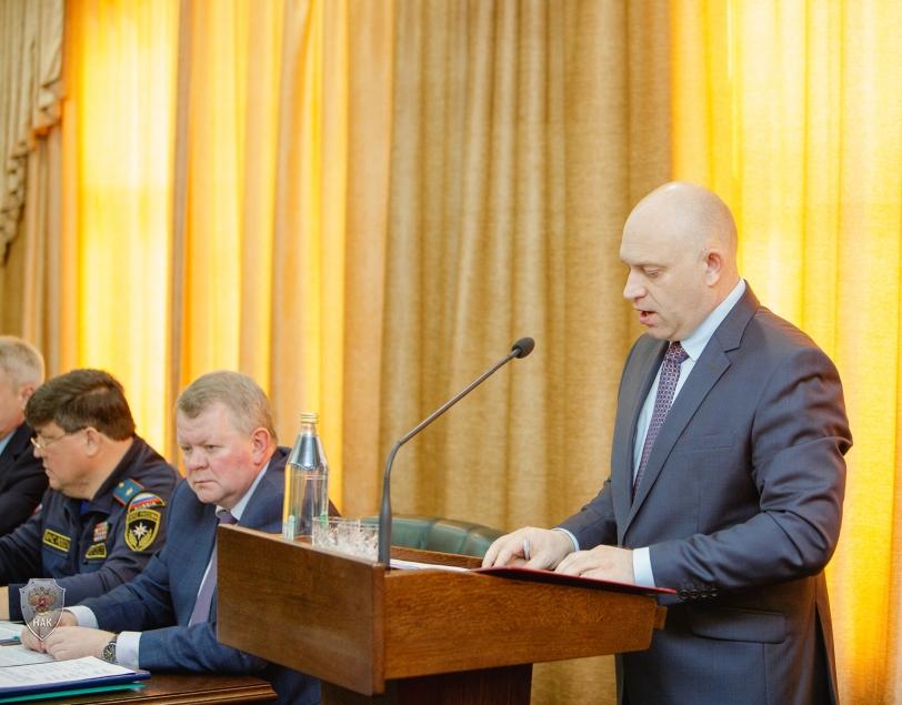 Выступление руководителя аппарата Оперативного штаба в Белгородской области А.В.Плотникова