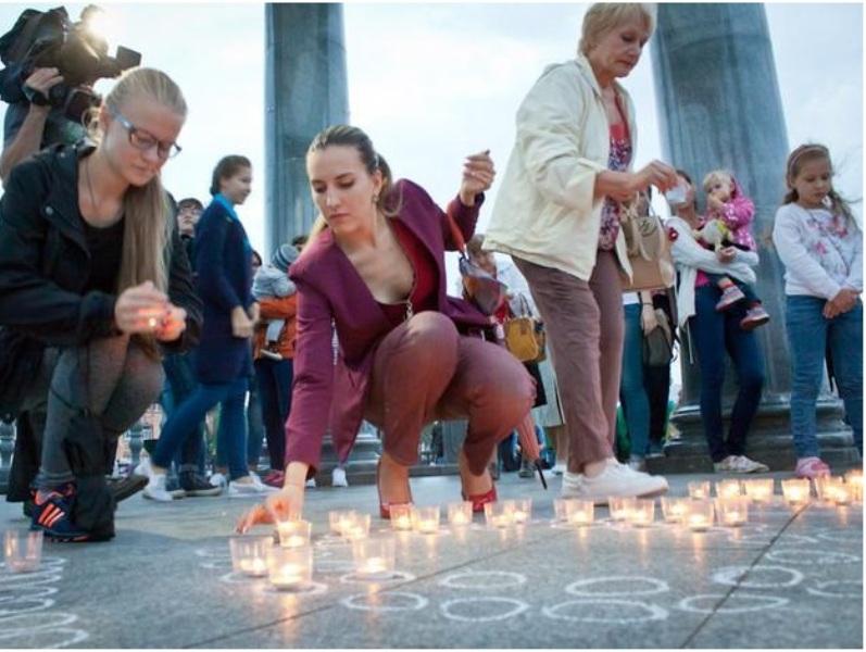 Благовещенцы зажгли свечи в память о жертвах теракта в Беслане