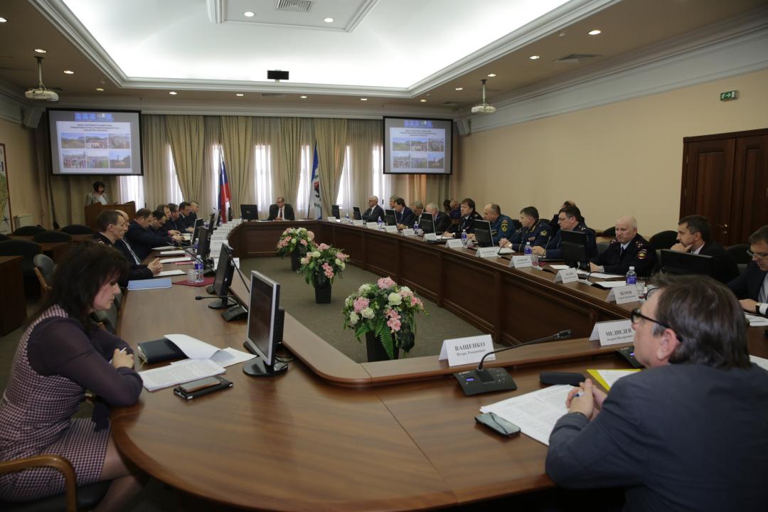 Заседание антитеррористической комиссии Иркутской области под руководством Губернатора Иркутской области Сергея Георгиевича Левченко