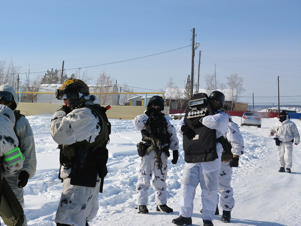 Антитеррористическое тактико-специальное учение в Хангаласском районе Республики Саха (Якутия)