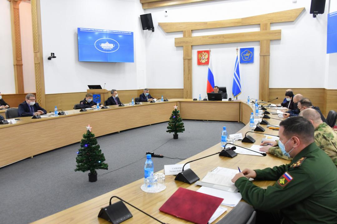 Совместное заседание антитеррористической комиссии и оперативного штаба проведено в Республике Тыва