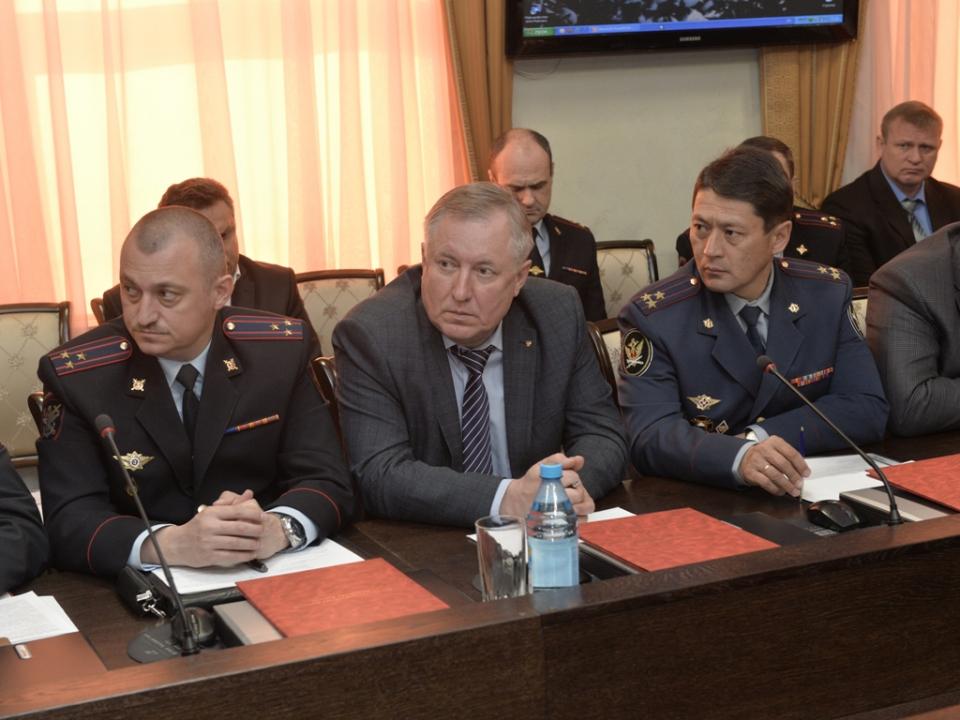 Совместное заседание республиканской антитеррористической комиссии и оперативного штаба в Республике Хакасия