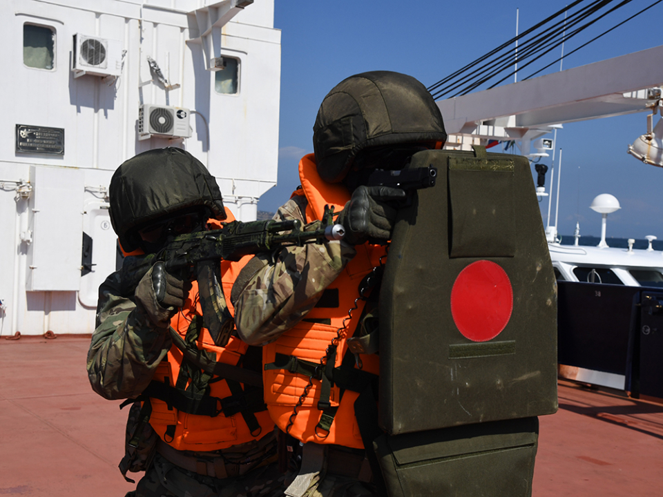 Оперативным штабом в морском районе (бассейне) в г. Симферополе проведены антитеррористические учения