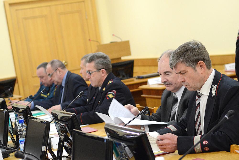 Участники заседания антитеррористической комиссии в Кировской области