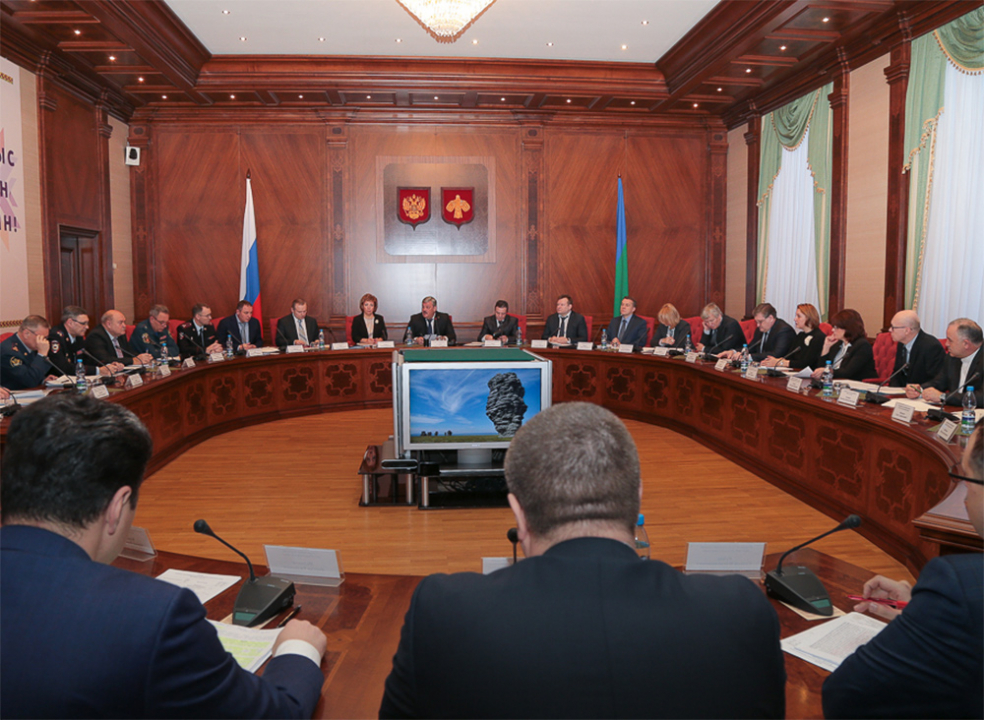 Открытие заседания Антитеррористической комиссии в Республике Коми
