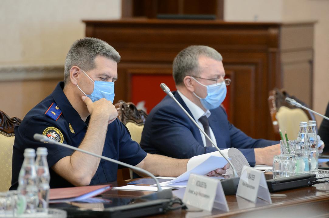 Совместное заседание антитеррористической комиссии Воронежской области и оперативного штаба в Воронежской области