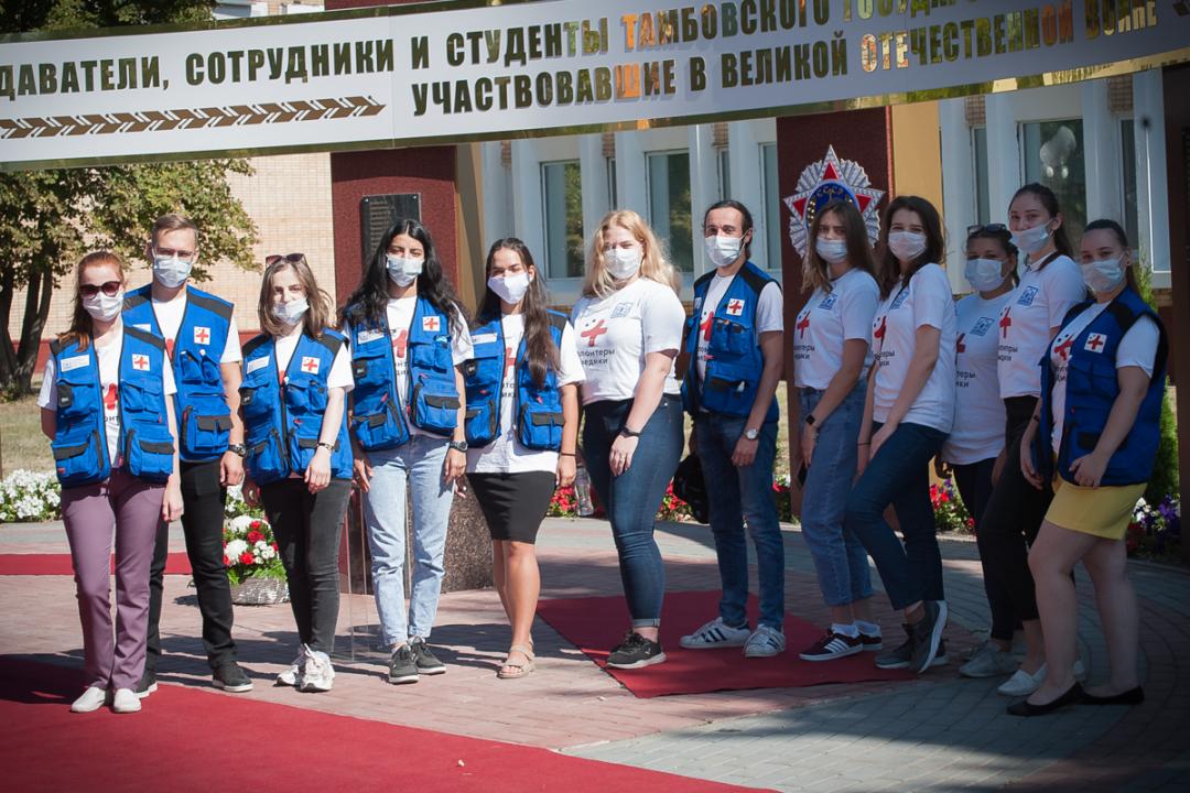 Студенты-медики, обеспечивавшие медицинское сопровождение мероприятия и санитарную безопасность