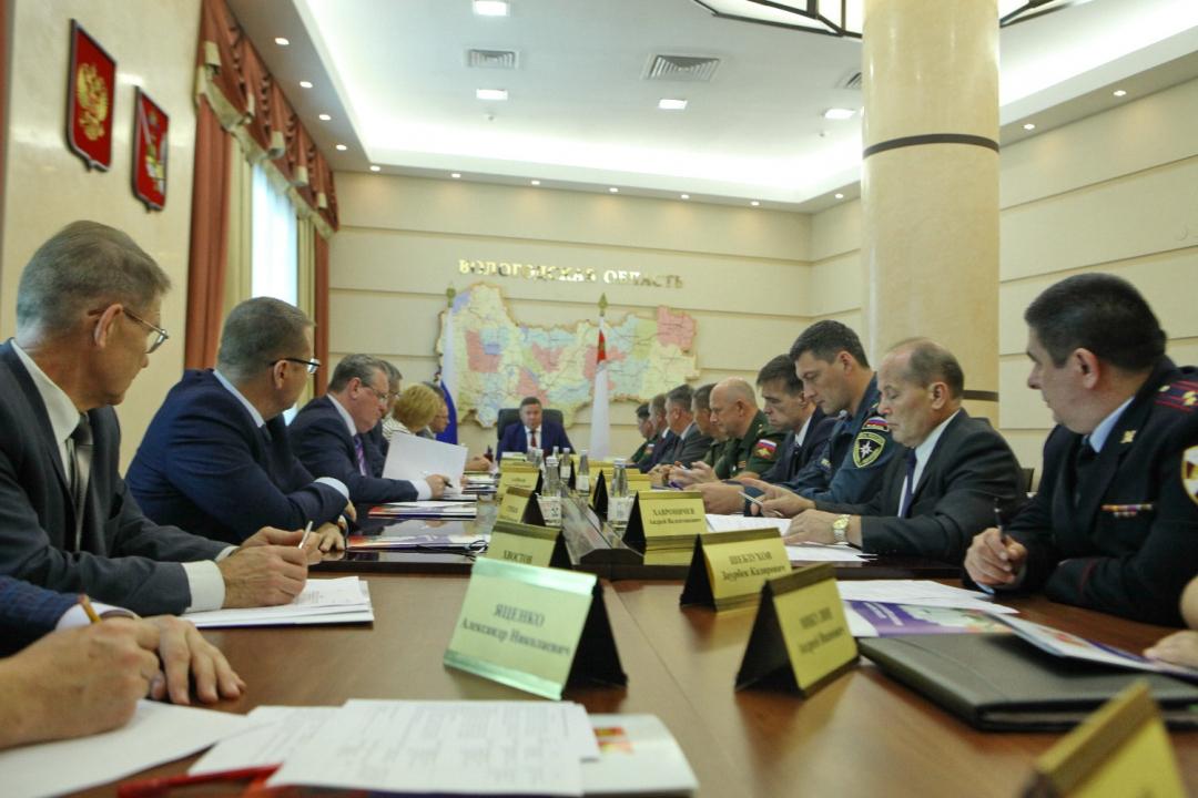 Заседание антитеррористической комиссии Вологодской области
