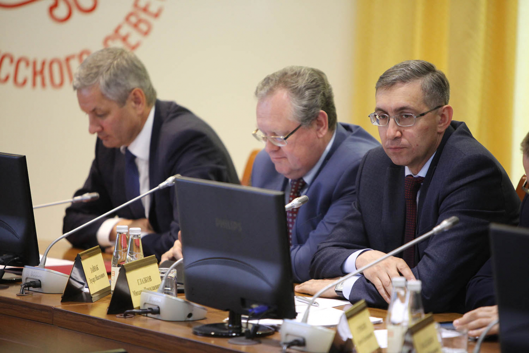 Заседание антитеррористической комиссии Вологодской области 30 мая 2018 года (члены АТК области А.Н. Луценко, Э.Н. Зайнак и М.М. Глазков - заместитель Губернатора области)