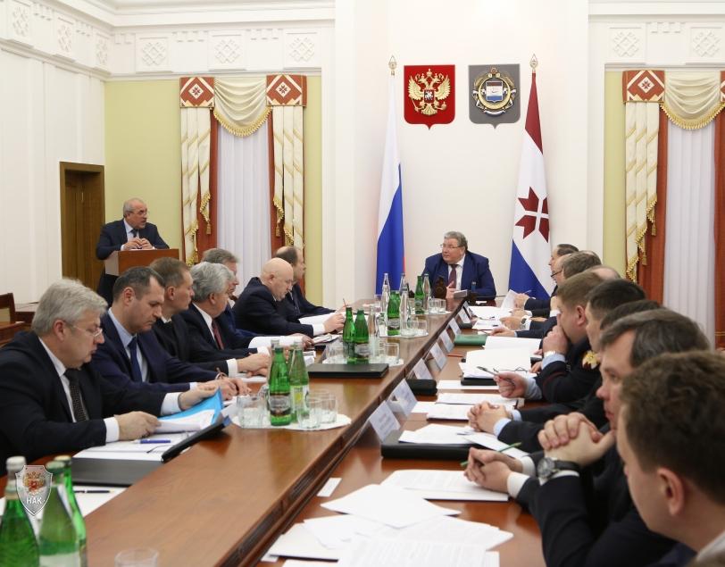 Председатель Антитеррористической комиссии Республики Мордовия, Глава Республики Мордовия В.Д. Волков открывает заседание