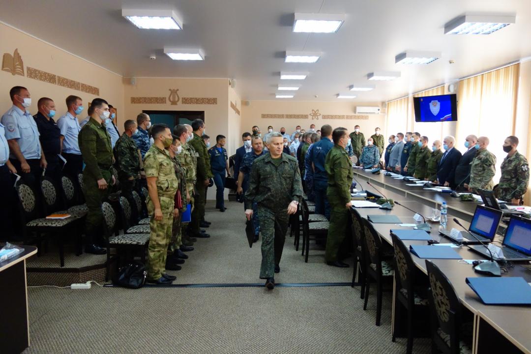 Сбор оперативного штаба в Липецкой области на запасном пункте управления КТО