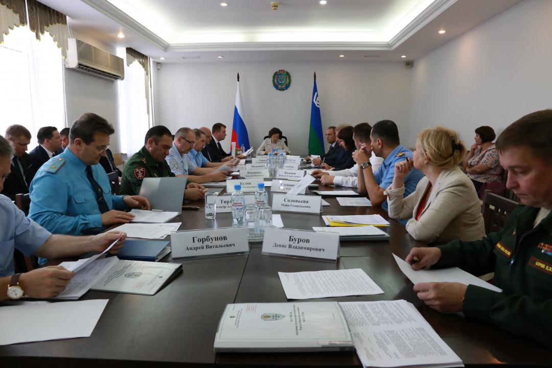 В режиме видеоконференции проведено совместное заседание АТК и Оперативного штаба в Югре