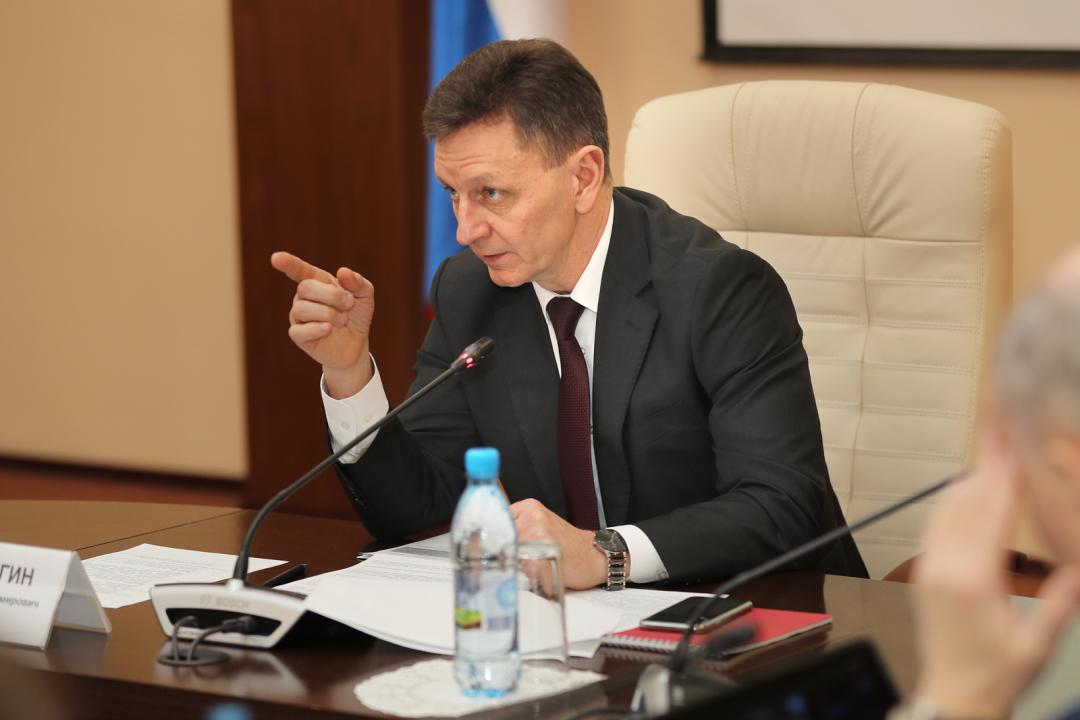 Выступление на заседания антитеррористической комиссии председателя АТК, Губернатора области Сипягина Владимира Владимировича