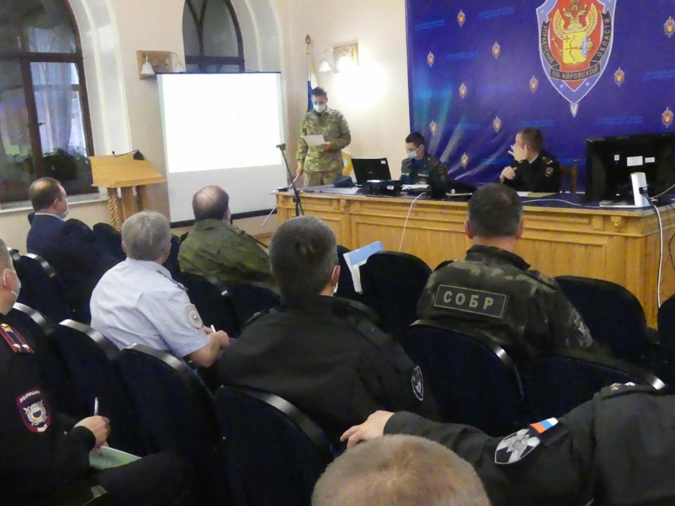 Оперативным штабом в Кировской области проведено плановое антитеррористическое командно-штабное учение «Технология-2020»