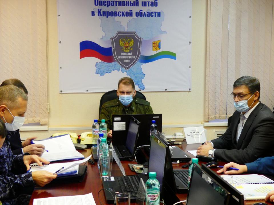 Оперативным штабом в Кировской области проведено плановое антитеррористическое командно-штабное учение «Молния-2020»