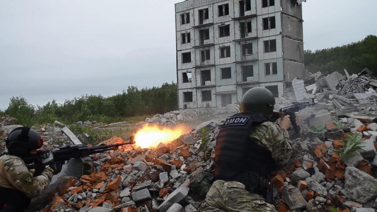 В Мурманской области росгвардейцы отработали нейтрализацию террористов в ходе тактического эпизода учения «Заслон 2021»
