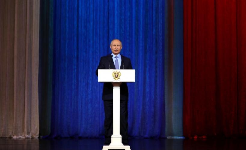 Президент выступил на торжественном вечере, посвящённом Дню работника органов безопасности