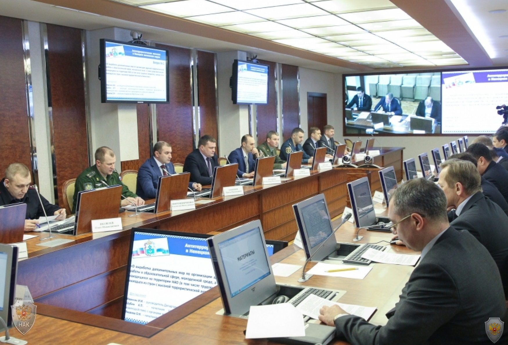 Открытие совместного заседания Антитеррористической комиссии и Оперативного штаба в Ненецком автономном округе