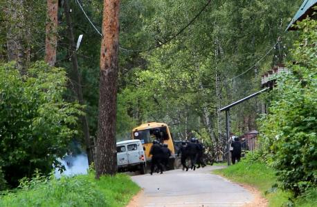 Штурм автобуса с «условными террористами» и заложниками оперативно-боевым подразделением